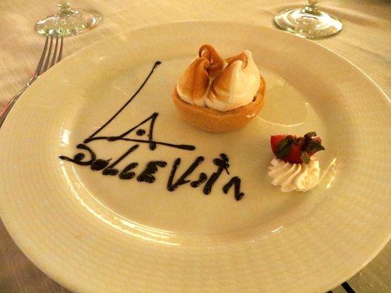 Barcelo Bavaro Palace: Desert at Italian restaurant