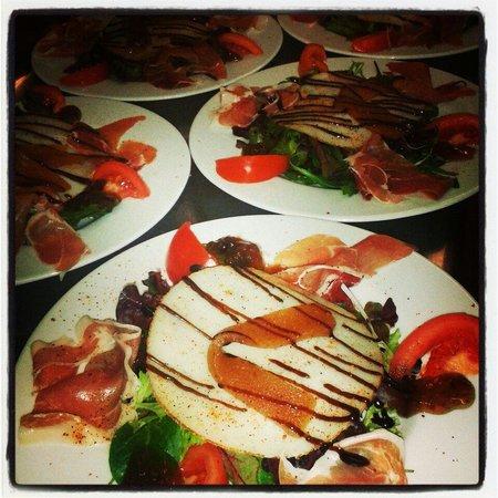 Le Bistrot mas guerido : Salade Manchego Serrano