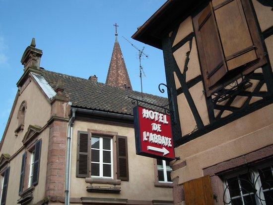 Hotel l'Abbaye d'Alspach: insegna