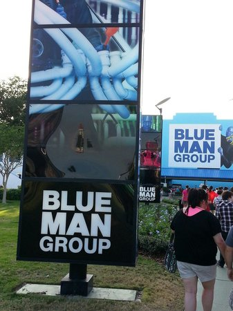 Blue Man Group: Walking up to the theater