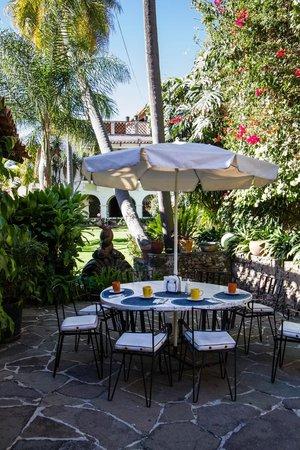 Casa de las Palmas: Courtyard patio