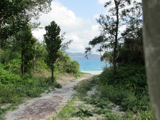 Zamami Island: Entrance to Furuzamami beach
