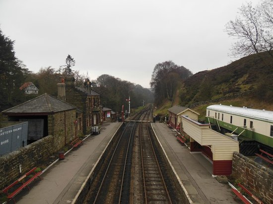 Goathland Station: View from the footbridge