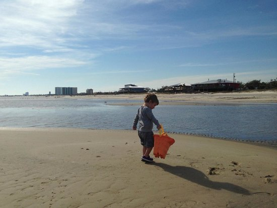 South Beach Biloxi Hotel & Suites : Walking on a sandbar