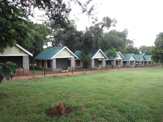 Rhino Tourist Camp: The army barrack tents