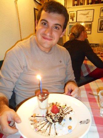 La Taverna dei Fori Imperiali : dolce di compleanno