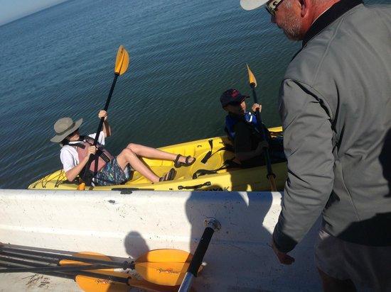 Everglades Area Tours : The boys in their own kayak