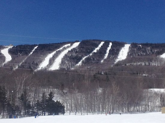 Chalets Montmorency Mont-Sainte-Anne : Your view from the ski in ski out.