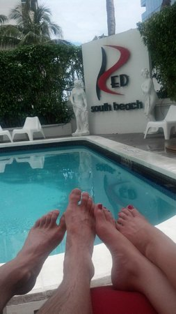 Red South Beach Hotel: Poolside @ RED