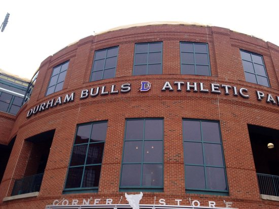Durham Bulls Athletic Park: Front of staduim