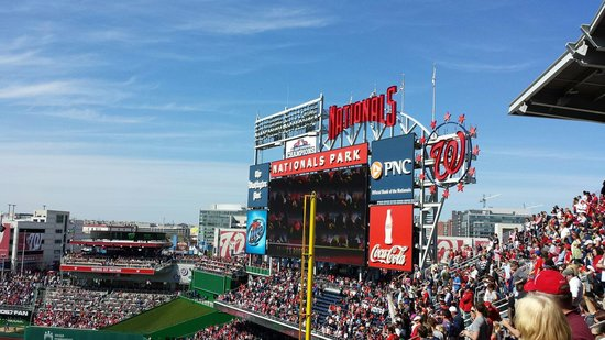 Nationals Park : Opening week game against the Braves.