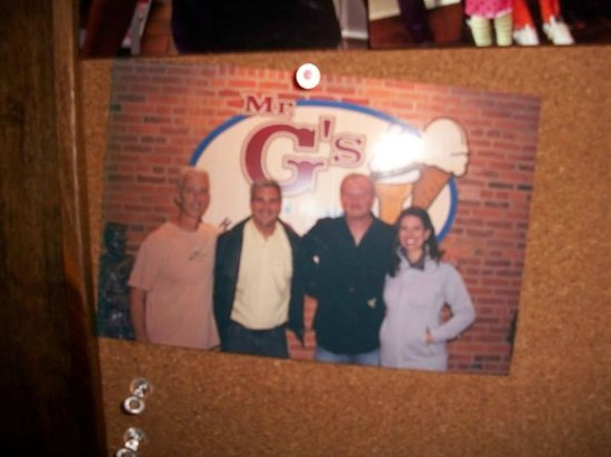 Mr. G's Ice Cream: Picture of Mr. G and friends