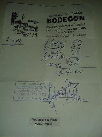 Asador el Bodegon: BODEGON MUNDAKA