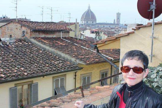 Hotel Cellai: terrasse et Duomo