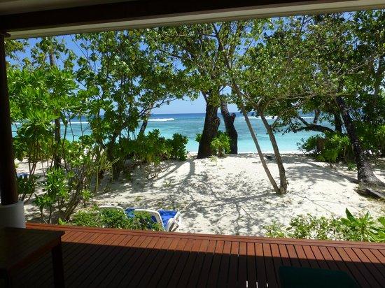 Hilton Seychelles Labriz Resort & Spa : Privatabschnitt vor dem Bungalow