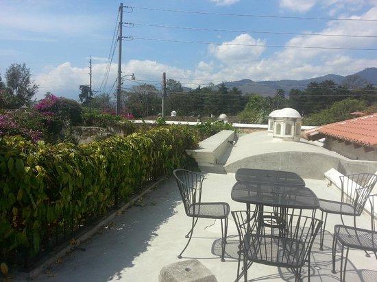 Hotel Cirilo: Fuimos al techo para unas charlas y bebidas