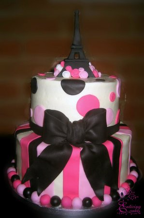 Fabulous Paris Birthday Cake Picture Of Enticing Cakes Inc Peterborough Funny Birthday Cards Online Alyptdamsfinfo