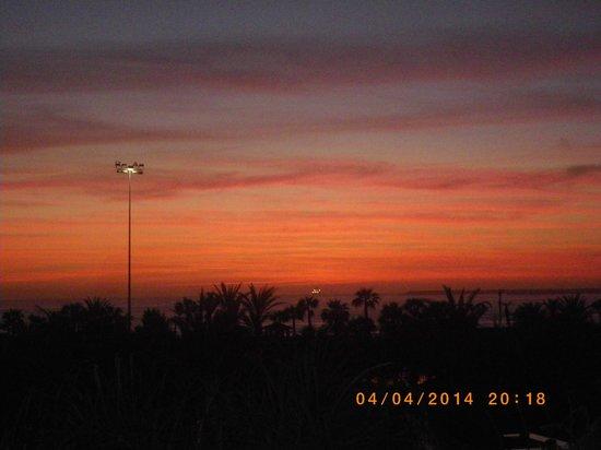 Hotel Riu Palace Tikida Agadir : coucher de soleil