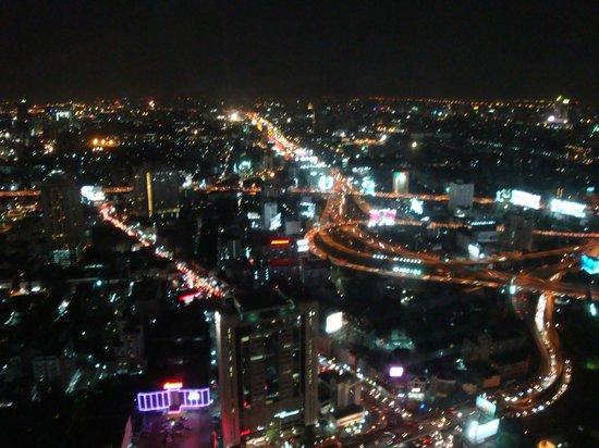 Baiyoke Sky Hotel: view at night