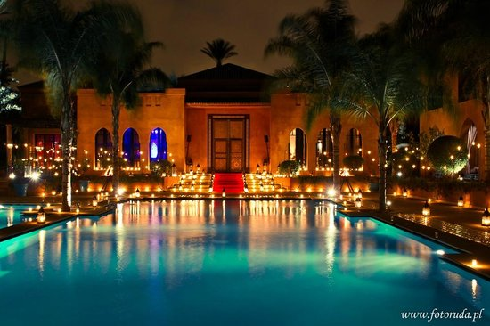 Palais Aziza & Spa: Pool By Night for Special Events