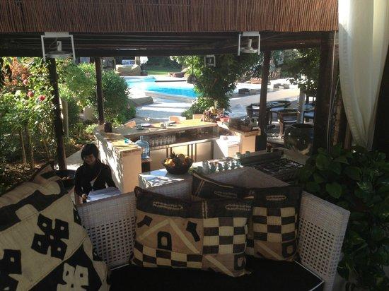 Finca Can Xuxu : View from open air lounge