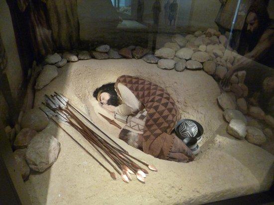 Museo Arqueologico Nacional: representación con muñeco
