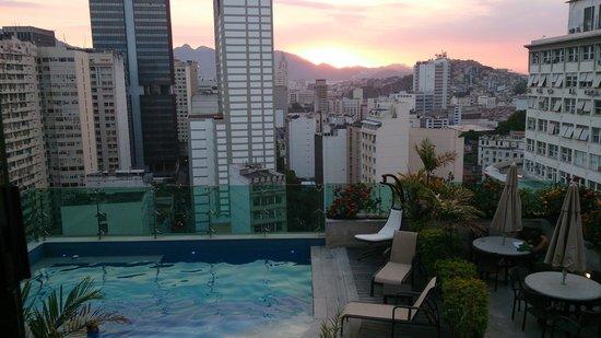 Hotel Sao Francisco: Fim de tarde no terraço.