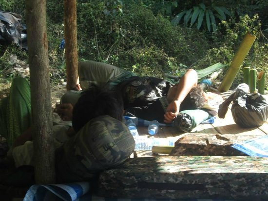 Chiang Dao Nest: Done with the trek, now time to watch the guides sleep from 3pm to 10am the next day