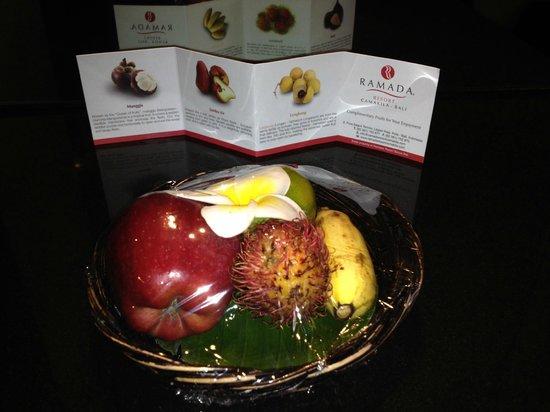 The Camakila Legian Bali: Welcome fruit