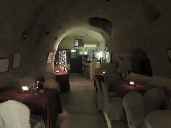Heliotopos Hotel: comedor por la noche a la luz de las velas