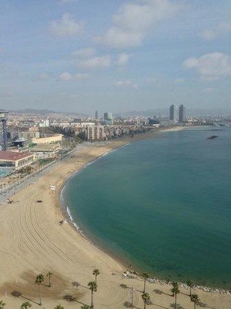 W Barcelona: Vue du 18eme étage.