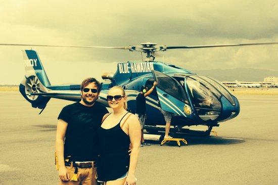 Blue Hawaiian Helicopters - Oahu : Me & Dani loving Blue Hawaiian