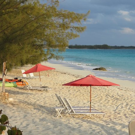 Private beach at Pigeon Cay Beach Club