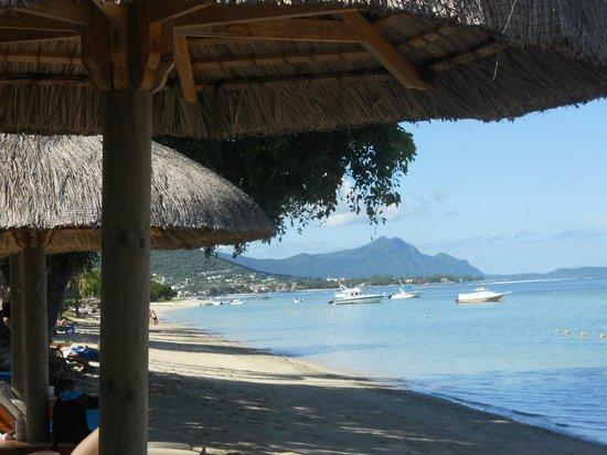 Hilton Mauritius Resort & Spa : Vue depuis la chaise longue sur la place