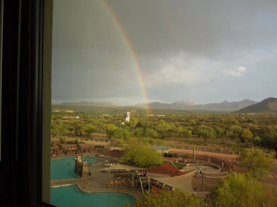 We-Ko-Pa Resort & Conference Center : view from our room w/rainbow