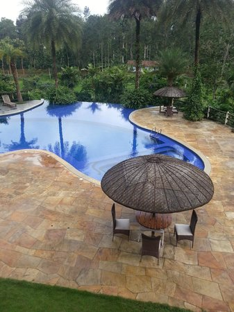 Evolve Back, Coorg: The common pool area near the buffet restaurant