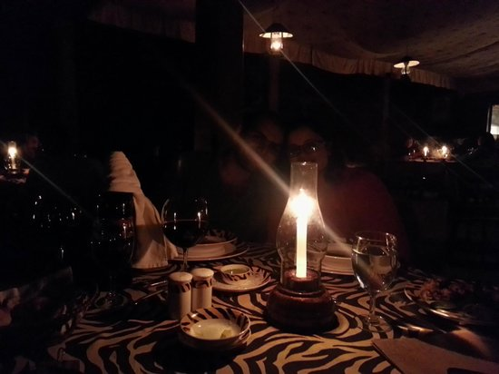Evolve Back, Coorg: Candle lit dinner in the grill restaurant