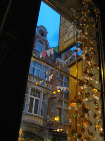 View from my favorite table at the Troubadour May 2012