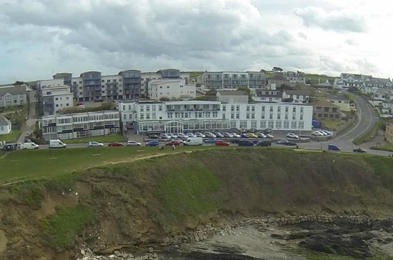 The Esplanade Hotel: view of hotel above the beach