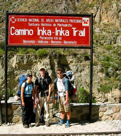 Inca Trail: Starting the trail!