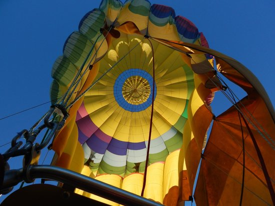 Napa Valley Balloons, Inc. : Morning Sunlight upon Descent