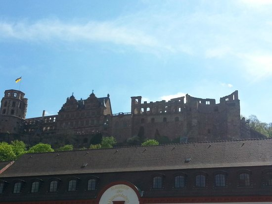 Schloss Heidelberg: Castelo visto da ponte