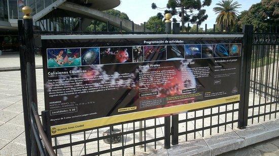 Planetario Galileo Galilei: Programação
