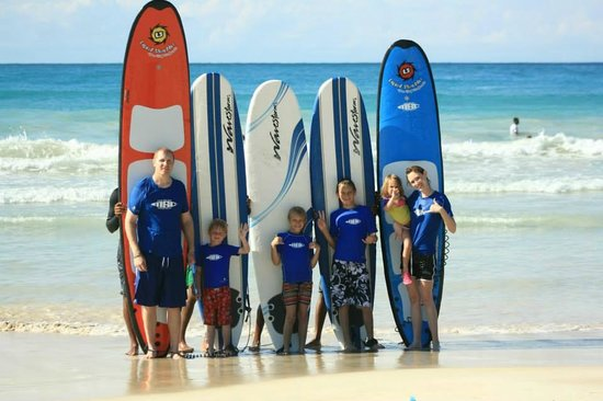 Our family, at Macao Surf Camp