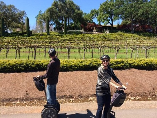 Sonoma Segway: A couple of old people learning to ride Segways ....