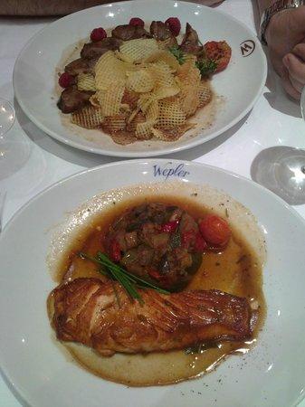 Le Wepler: вторые блюда