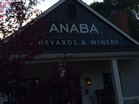 Anaba Wines: The front door that will greet you ...