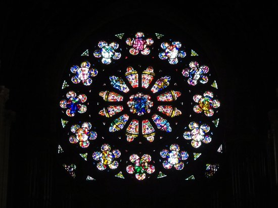 Cobh Cathedral: Rose window, St Colman's, Cobh, Ireland