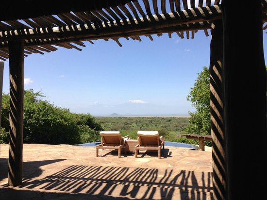 Amboseli Eco-system, Kenia: The view from our room!