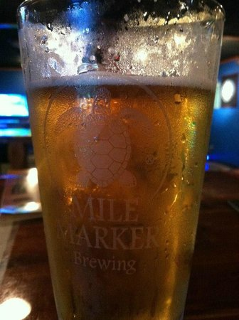 Mile Marker Brewing: A lovely pint of their Mile Marker Zero - Blonde Ale